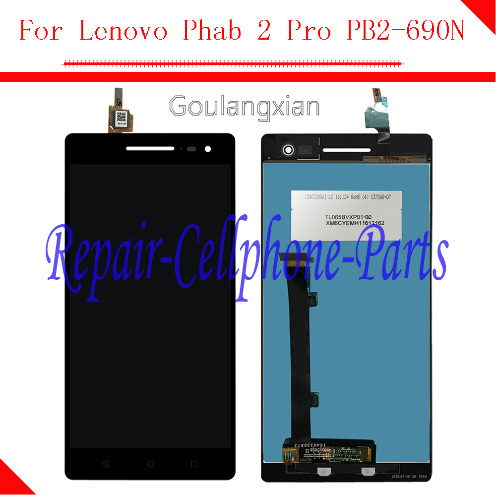 For Lenovo Phab 2 Pro PB2 690N PB2 690 Full LCD display+Touch screen Digitizer assembly Repair Spare Parts