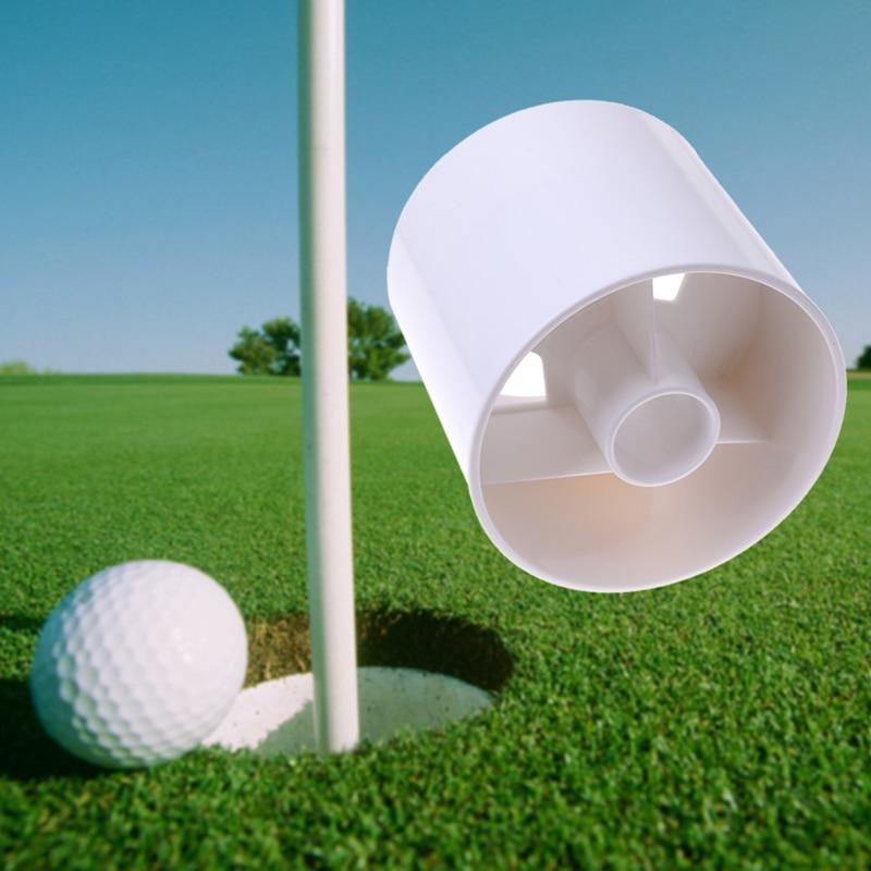 Plástico blanco Taza Hoyo de Golf Putter Patio Jardín accesorios de Entrenamient