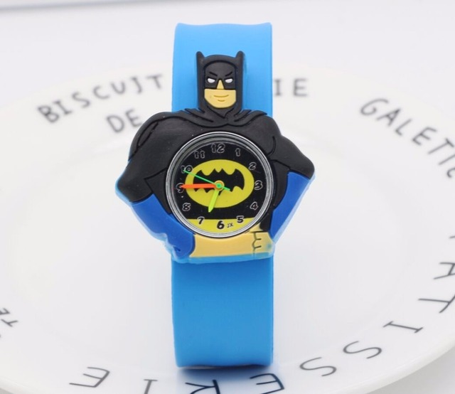 HOT Sale slap watches 3D Kid Cartoon watches Batman children High quality slap w