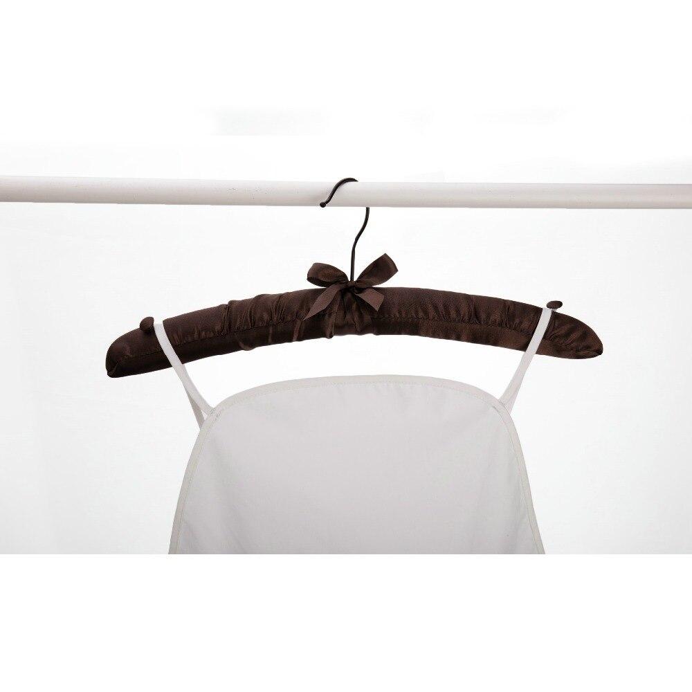 5 Pcs Satin Padded Cushioned Hangers Clothes Lingerie Coat Wedding Dress 38.8 cm