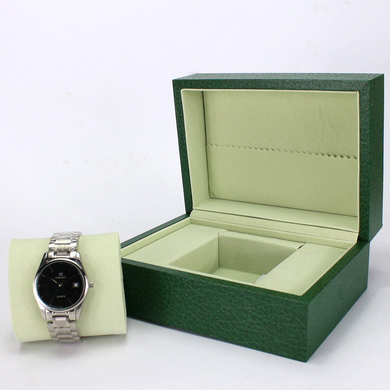 2018 Watch Box Green Wooden Table Box Jewelry Gift Box Storage Organized caixa para relogio rectangle Watch storage display