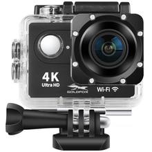 "H9 Macchina Fotografica di Azione Full HD 4K 25FPS WIFI 2.0 ""Schermo Mini Macchina Fotografica del Casco Andare pro Impermeabile di Sport DV macchina fotografica di Sostegno 32G Carta di TF"