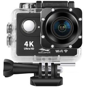 "Image 1 - H9 eylem kamera Full HD 4K 25FPS WIFI 2.0 ""ekran Mini kask kamera gitmek su geçirmez pro spor DV kamera destek 32G TF kart"