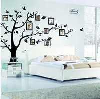 DIY 50*70 cm marco de fotos Árbol de la memoria clásico familia pared calcomanía 2141 S decorativo adesivo de parede extraíble etiqueta de pared de pvc