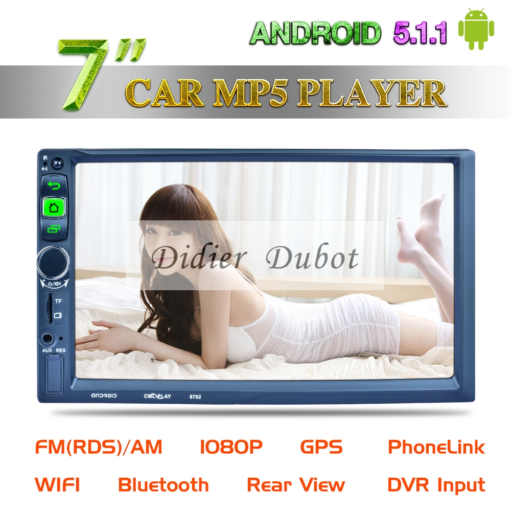 Android 5.1.1 Car Multimedia MP5 Player 7 inch Car Radio Stereo 2 double din with GPS Navigation Wifi Mirro link BT AUX