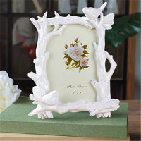 2017 Vintage Decoration Photo Frame Resin Bird Stand Tree Frame Retro Picture Frame Holder Flower Photo