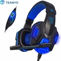Nueva PC780 Deep Bass Juego Rodeado Over-Ear Auriculares Estéreo Gaming Headset Diadema Auricular con la Luz para Pc Gamer