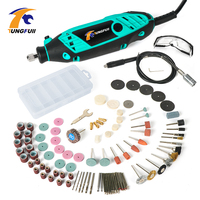 Tungfull Upgraded Drilling Machine Woodworking Dremel Mini Drill Variable Speed Rotary Tool Accessories Electric Engraver