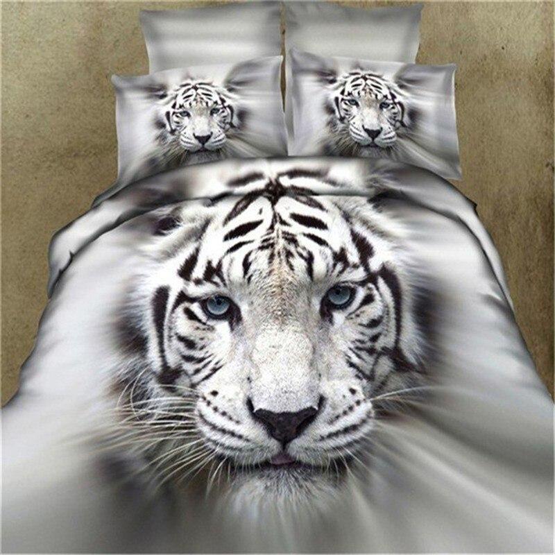Set Copriletto Matrimoniale.Us 72 4 40 Di Sconto 100 Cotone 3d Tiger Lupo Bedding Set Lenzuolo Set Copriletto Matrimoniale King Size 4 Pz Animale Stampa Reattiva In Completi