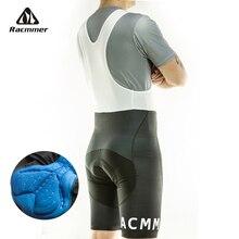 Racmmer мужские летние шорты-комбинезон с для велоспорта Coolmax 5D гелевая накладка на велосипед Биб колготки Mtb Ropa Ciclismo влагоотводящие брюки# BD-02