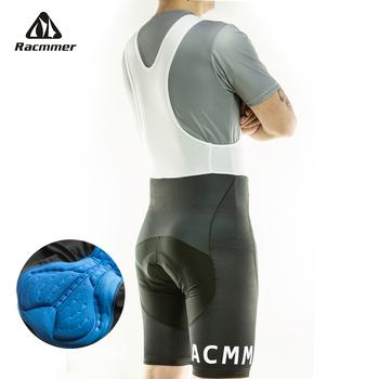 Racmmer 2020 męskie rowerowe krótkie spodenki na szelkach Coolmax 5D podkładka żelowa rowerowe spodnie na szelkach Mtb Ropa Ciclismo odprowadzanie wilgoci spodnie # BD-02 tanie i dobre opinie Lycra Poliester Jazda na rowerze #BD-02 5D GEL PAD China