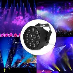 Lampa PAR 12 LED RGBW oświetlenie sceniczne DMX 512 na klub Disco Party sala balowa KTV Bar ślub DJ na żywo pokaż oświetlenie efekt