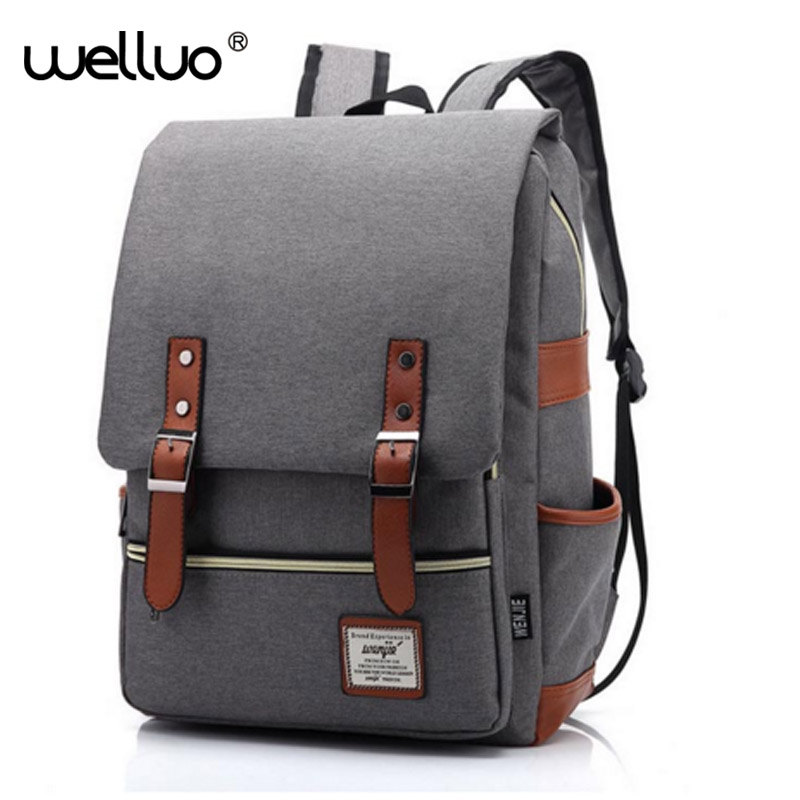2016 Vintage Women Canvas Backpacks For Teenage Girls School Bags Large High Quality Mochilas Escolares New