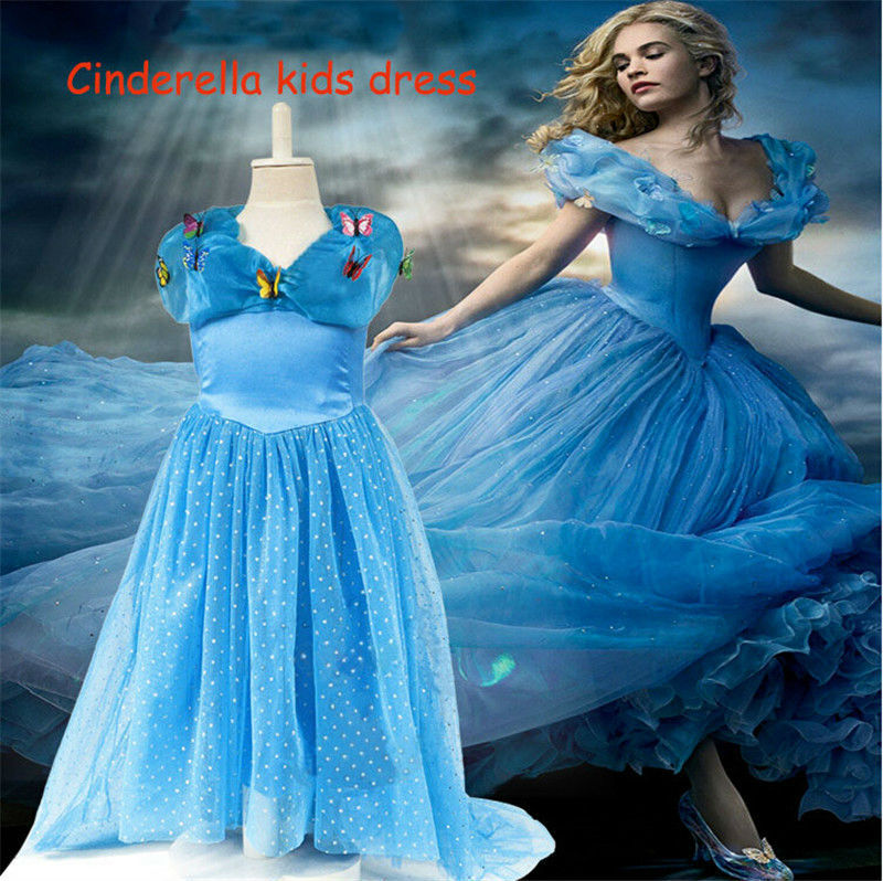 Cinderella Princess Character Dress Child 3t 4t 5 6 7: Cinderella Kids Dresses For Girls Fashion Ball Gown