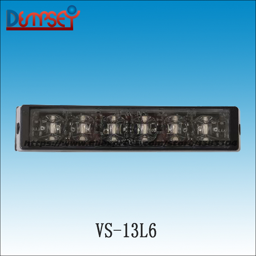 Dempsey LED Super Bright 12V-24V Strobe Emergency Warning Light Police Flashing Lightbar Grille Truck Beacon LED Lights(VS-13L6) new coming led lightbar 240 led 20w beacon light with magnets emergency strobe light bar dc12v led warning light
