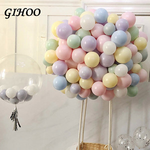 GIHOO 20pcs 10inch 2.3g Latex Balloon Macaron Color Wedding Decoration Baloons Baby Birthday Party Valentine's Day Decor Balloon
