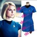 Película de Star Trek En Oscuridad Marcus Vestido de Star Trek Azul Camisa de Las Mujeres Del Estilo Del Verano Vestidos de Traje de Cosplay Uniforme de Star Trek