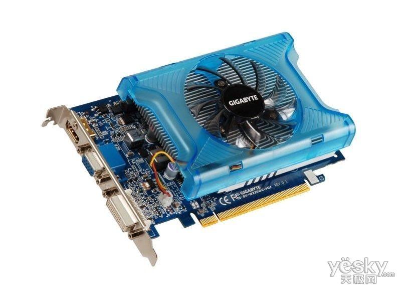 Gigabyte GV-N220OC-1GI Graphics Cards 128 Bit GT 220 1G GDDR3 HDMI DVI VGA For Nvidia Geforce GT220 Original Used Video Card(China)