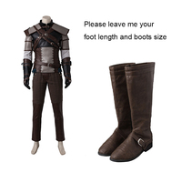 Geralt Of Rivia Cosplay Boots The Witcher 3 Wild Hunt Cosplay Shoes Adult Men Game Cosplay