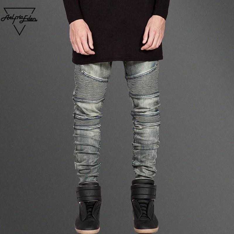 Aelfric Eden Vogue Bronze Slim Straight Leg Mens Jeans Brand Casual Pleated Trousers Streetwear Heavy Metals Rock Hip Hop Jeans rakesh kumar assessment of heavy metals co ni