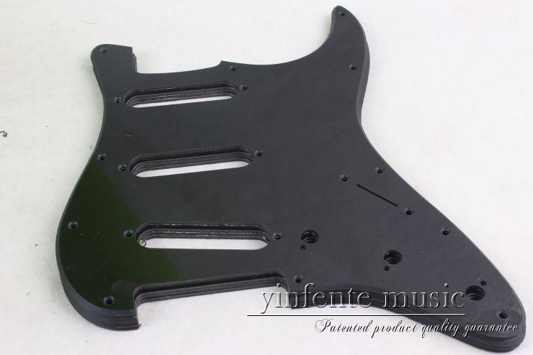 New  black    color  Electric Guitar Pickguard     SSS S trat Guitar parts #1826 color 4pcs new quality guitar pickguard sss yellow pearl 11 hole for electric strat replacement