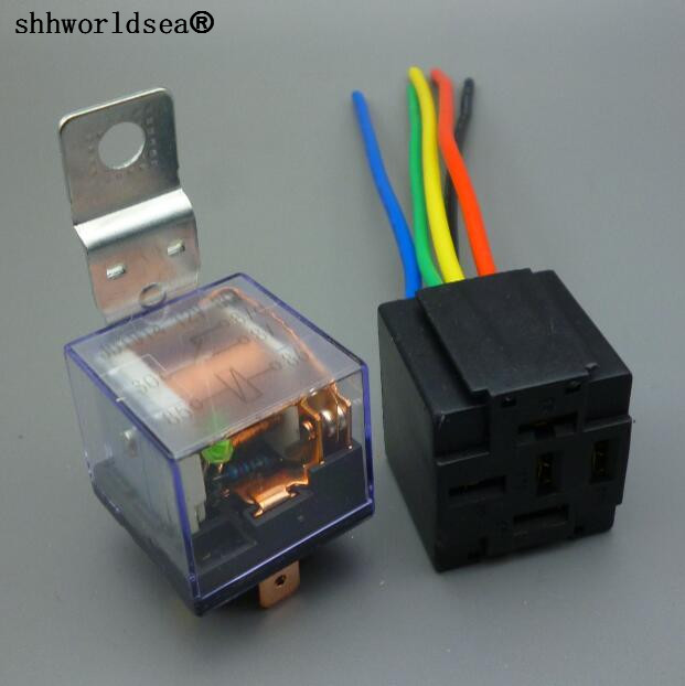 Shhworldsea Waterproof 12v 24v 4pin 5pin 80a Auto Relay