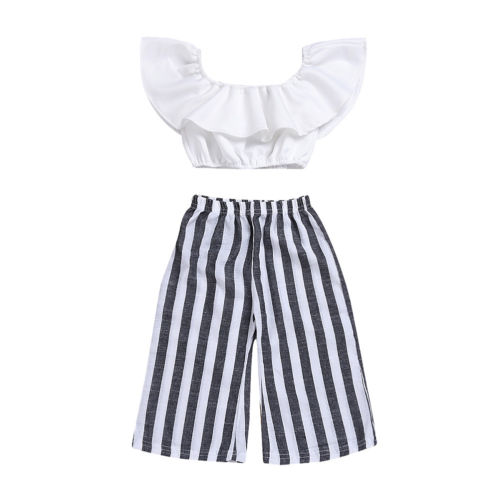 2pcs Newborn Toddler Infant Baby Girls Clothes Sets T-shirt Tops Short Sleeve Pants Cotton Casual Striped Clothing Set Girl 0-4T 3pcs 2018 fashion baby girls clothes set long sleeve flower t shirt pants headband newborn infant baby girl toddler clothing set