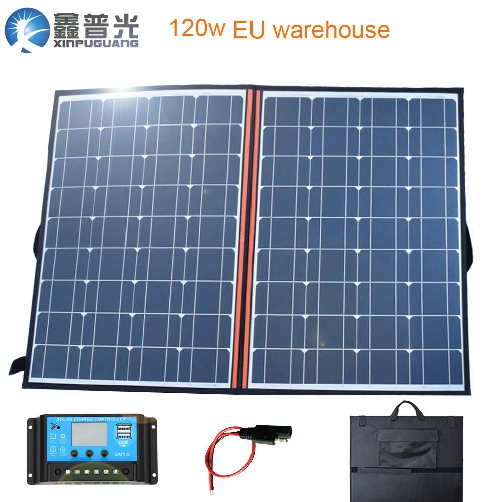 60W 18V Dual USB Solarmodul Solarpanel Power Flexibel For Auto Camping Netzteil
