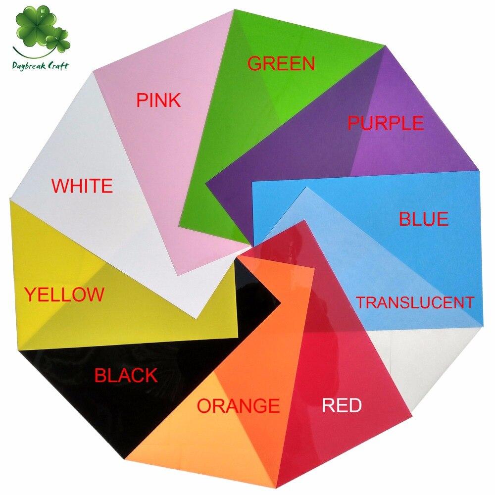 50 pcs lot DIY Magic Shrink Plastic Sheet A4 Paper Size Clear Film Red Yellow