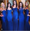 Hot sell 2017 royal blue mermaid wedding bridesmaid dresses PROM gown BN965 sweetheart dress without back of a chair
