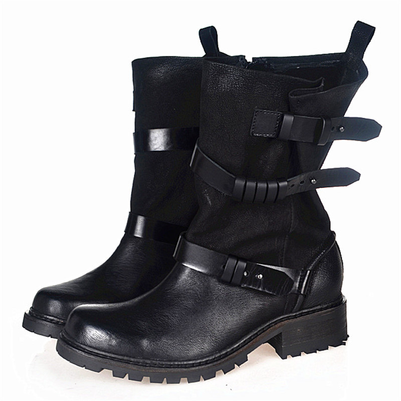 Online Get Cheap Black Leather Combat Boots -Aliexpress.com ...