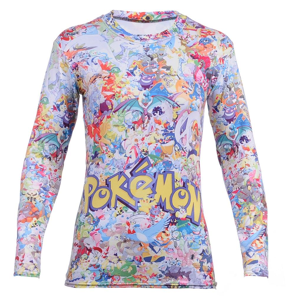 Hot Sales font b Pokemon b font Pikachu Women s Causal Long Sleeve font b T