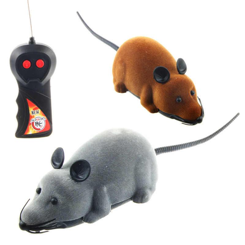 Drôle télécommande Rat souris sans fil chat jouet nouveauté Simulation en peluche drôle RC électronique souris chien jouet pour animaux de compagnie pour chats jouets