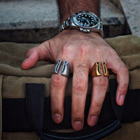 Fine Jewelry Men S High Polished Vintage Solid Stainless Steel Ring 316L Stainless Steel Biker Ring