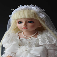 45cm SD BJD Ball Joint Doll Sent Girlfriends Luxury Gifts Bride Doll American Girl