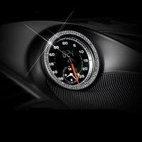자동차 인테리어 시계 스티커 다이아몬드 합금 라인 석 장식 refit 링 서클 포르쉐 911 카이엔 마판 panamera 자동차 인테리어 스티커 자동차 및 오토바이 -