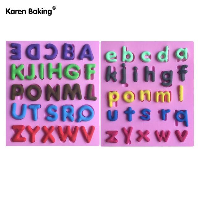 Set English Letter Shape Fondant Cake Decorating