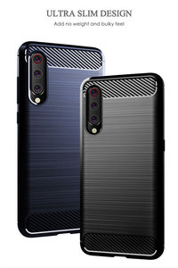 Image 4 - Silicone Carbon Phone case For Xiaomi Mi 9 Se 9T Pro Fiber TPU Back Cover Xiaomimi Mi9 Mi9T Mi9se 9pro Mi9Pro Soft Rugged Armor
