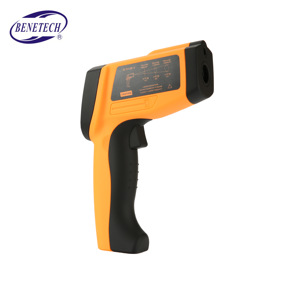 GM1150 Non-contact Infrared Thermometer Handheld Pyrometer IR Temperature Meter with LCD BacklightGM1150 Non-contact Infrared Thermometer Handheld Pyrometer IR Temperature Meter with LCD Backlight