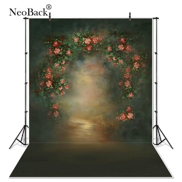 Thin Vinyl Indoor Vintage Classic Photo Wedding Floral Photography Backdrop Printed Photography Studio Portrait Photo background