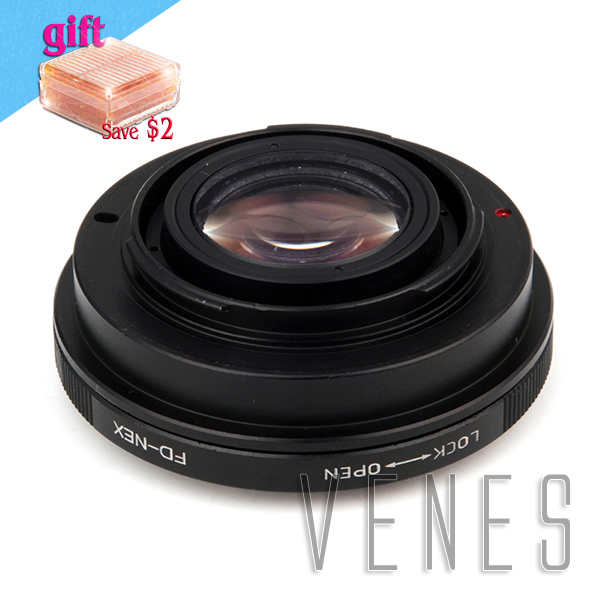 Venes 010778, Focal Reducer Speed Booster Lens Adapter Suit For FD -NEX to Suit for Sony E Mount NEX For A7s A5000 A3000 NEX-5R cat