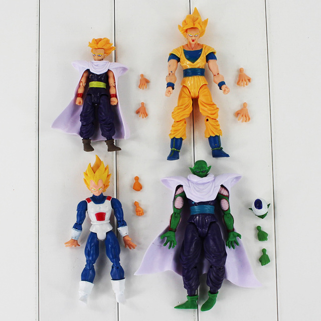 8Pcs Dragon Ball Z Freeza Piccolo Vegeta Trunks Son Gohan Kuririn