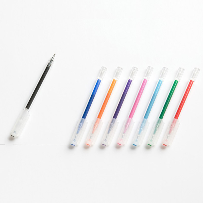 Japan MUJI Ink Erasable Gel Pen 0.5 mm 4pcs/lot Black/Red/Blue/Pink Writing Supplies lifemaster pentel energel needle point gel ink pen clena limited 0 5 mm red blue black smooth writing supplies