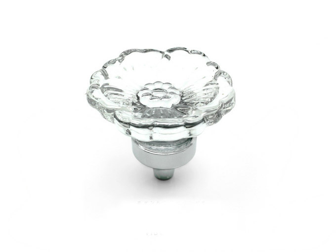 10Pcs Furniture Hardware K9 Clear Crystal Glass Flower Cabinet Pulls Drawer Knobs and Handle(Diameter:38mm) css clear crystal glass cabinet drawer door knobs handles 30mm