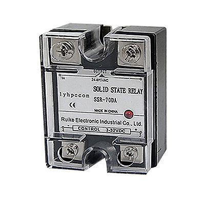 Solid State Relay SSR-70 DA DC-AC 70A 3-32VDC 24-480VAC 3piece lot solid state relay ssr 50da 50a 250v 3 32vdc 24 380vac brand new