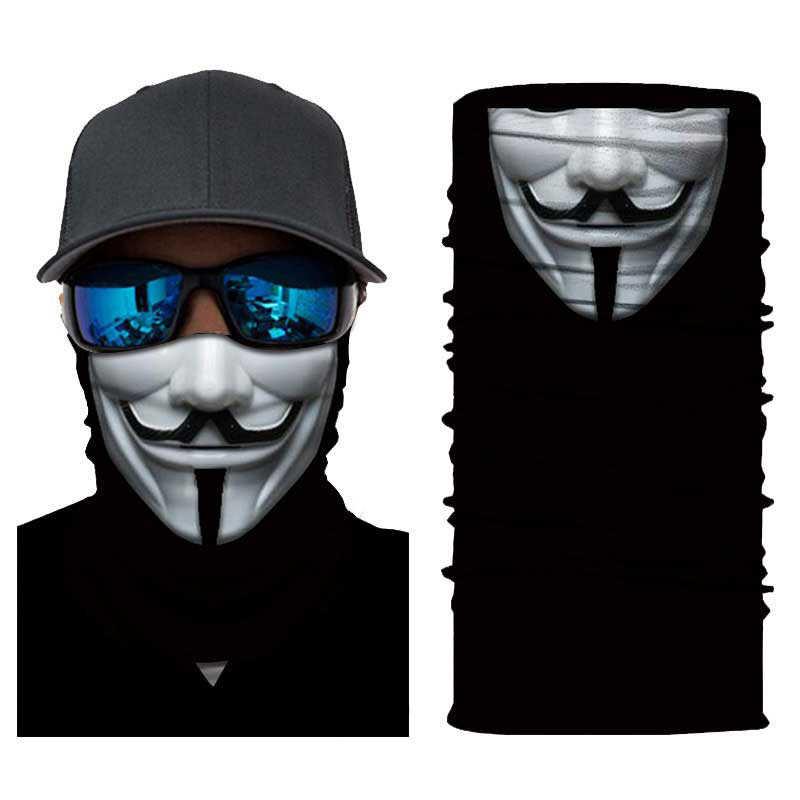 V For Vendetta Face Mask Summer Balaclava Windproof Dust Mask