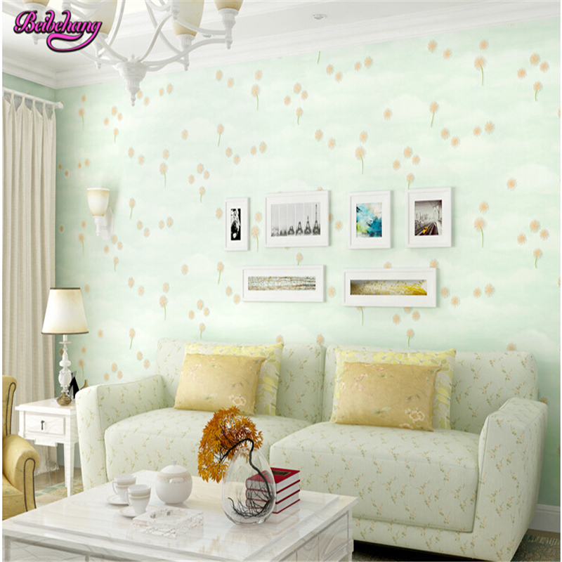 beibehang Pastoral wall paper bedroom warm romantic pink dandelion wallpaper living room background papel de parede behang beibehang papel de parede pastoral environmental nonwovens wall paper warm small floral living room bedroom background wallpaper
