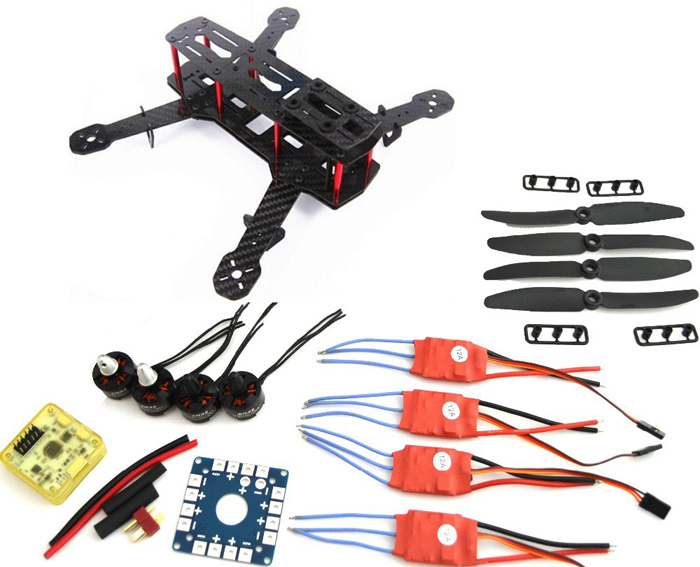 Xiangtat Carbon Fiber Mini QAV250 C250 Quadcopter MT1806 2280kv Motor 12A Esc Flight Control Prop mini zmr250 carbon fiber quadcopter cc3d evo control mt2204 2300kv motor emax blheli firmware 20a esc 5045 prop led lights board