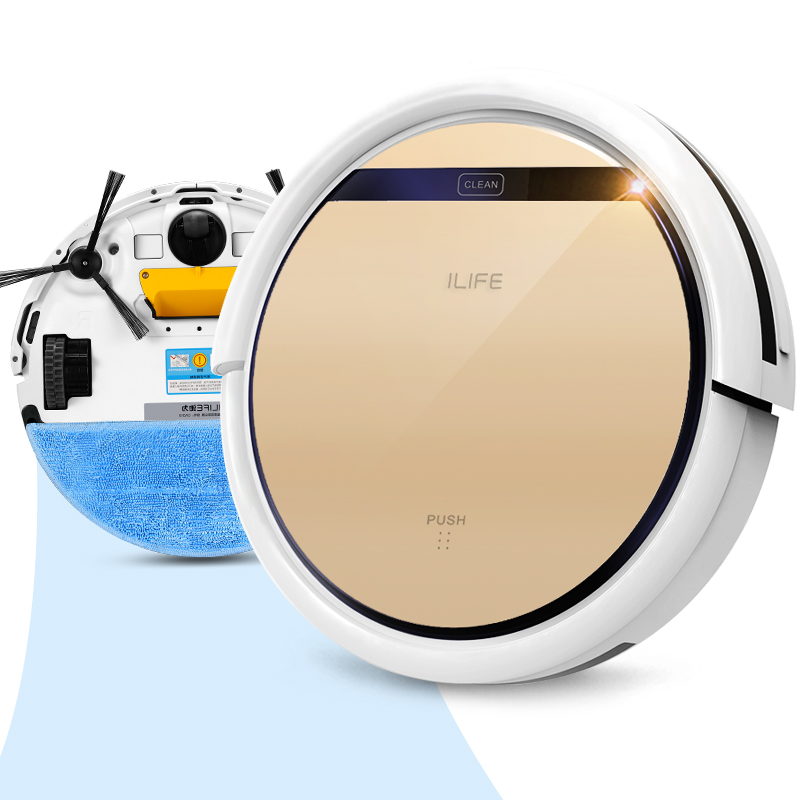 buy ilife smart wet robot vacuum cleaner wet and dry clean mop water tank hepa filterciff sensorself charge v5 pro robot aspirador from - Robot Mop
