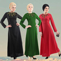 Moda Vestido Longo Muçulmano Mulheres Islâmicas Abaya hijab Roupas Turcos jilbabs e abayas Peru Vestidos Vestidos Robe Musulmane